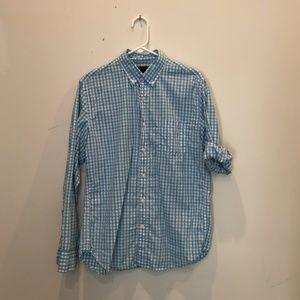 J. Crew Men's Medium Light-Blue Shirt